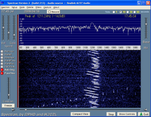 spectran で捕らえる CW ビーコン