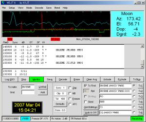 8N1EME on 432MHz JT65B
