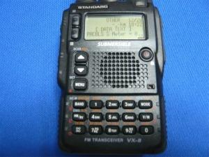 VX-8で受信したAO-51