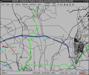 OpenStreetMapの表示例