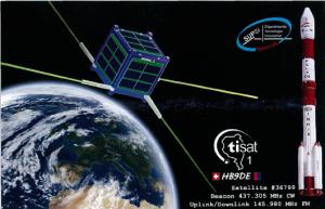 TIsat-1 QSL