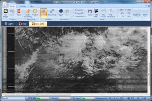 SDR-Radio で受信した NOAA-18