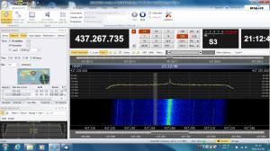 SDR-RadioのSatellite Passes画面