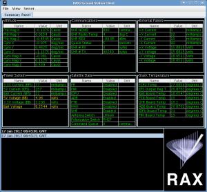 RAX GS Client画面