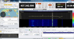 SDR-Radio で聞く Masat-1