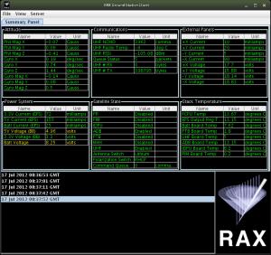 RAX GS client 画面