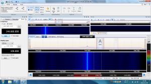 SDR-Radio V2 画面