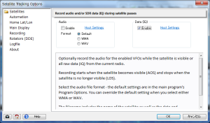 SDR-Radio 設定画面
