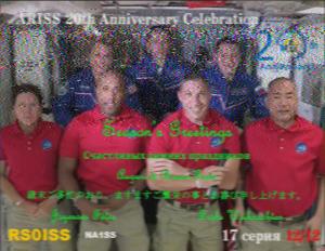 ARISS 20周年 SSTVイベント