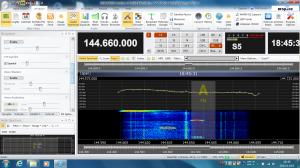 144.64/144.66MHzのモニタ画面