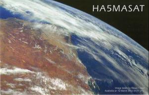 MASAT-1 QSL