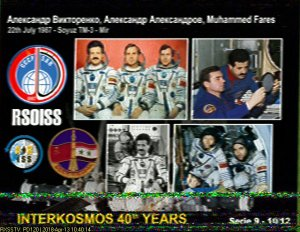 ARISS-Russia Interkosmos SSTV Image